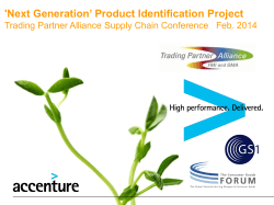 Next Generation Product Identification