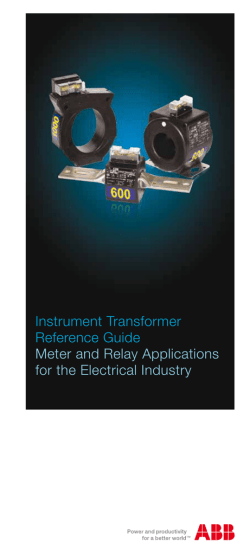 ABB Instrument Transformer Reference Guide: Meter and Relay