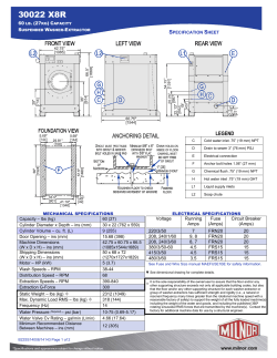 Spec Sheet - 30022 X8R - Pellerin Milnor Corporation