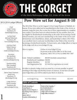 Pow Wow set for August 8-10
