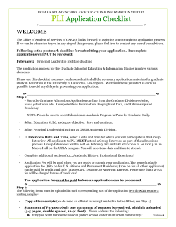 checklist PLI 2015 - Graduate School of Education and Information