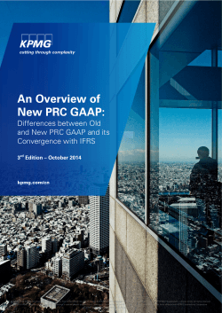 An Overview of New PRC GAAP: Differences between Old