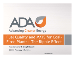 Fuel Quality and MATS for Coal- Fired Plants: The - ADA