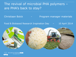 The revival of microbial PHA polymers – are