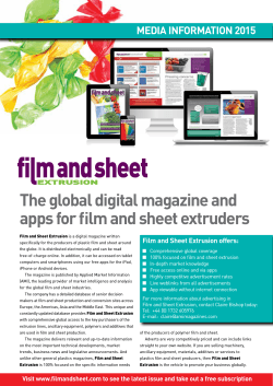 Media pack - Film and Sheet Extrusion
