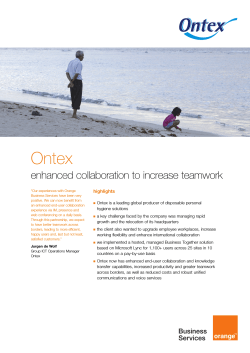 how Ontex increased productivity and teamwork across the