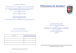 Province of Surrey - 2019 Festival