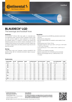BLAUDIECK® LGD - The beverage and foodstuff hose