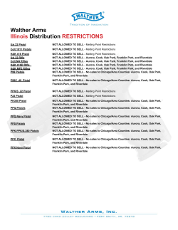 Walther Arms Illinois Distribution RESTRICTIONS