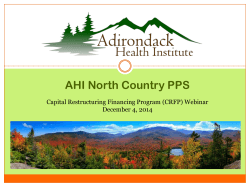 AHI North Country PPS - The Adirondack Health Institute