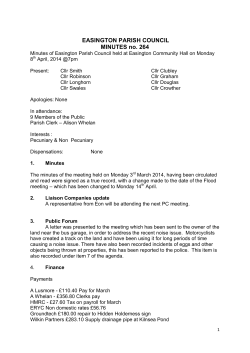 EASINGTON PARISH COUNCIL MINUTES no. 264