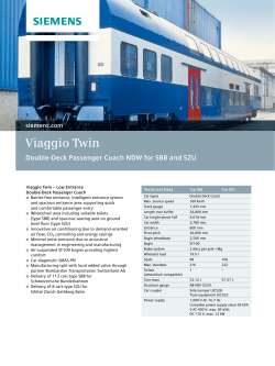 Viaggio Twin Double-Deck Passenger Coach NDW for SBB and SZU