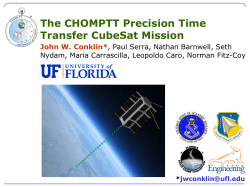 The CHOMPTT Precision Time Transfer CubeSat Mission
