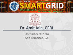 Dr. Amit Jain, CPRI - India Smart Grid Workshop and Reverse Trade