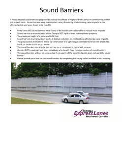 Sound Barriers - Northwest Corridor (I-75/I