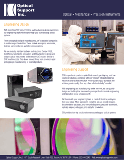 Download our brochure - Optical Support, Inc.