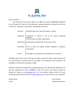 [PKP] Scholarship Application - Pi Kappa Phi Fraternity