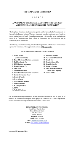 Accountants Appointed by the Commission