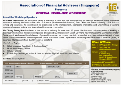 the General Insurance Workshop Registration Form