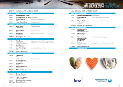 CONFERENCE 2014 - Aquaculture New Zealand