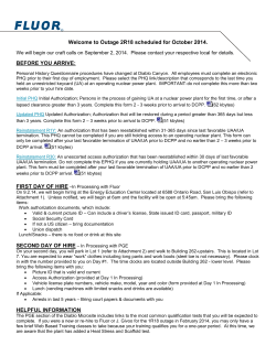 FLUOR Maintenance Services Hiring Information packet.