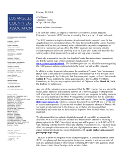 Board Of Trustee Letterhead - Los Angeles County Bar Association