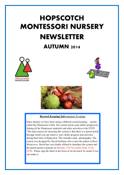 hopscotch montessori nursery newsletter autumn 2014