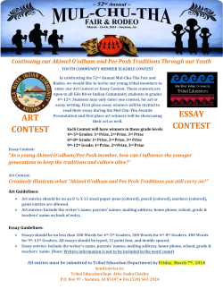 ART CONTEST ESSAY CONTEST - Gila River Indian Community
