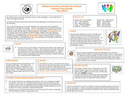 Parent Focus Group Newsletter - May 2014