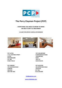 The Perry Clayman Project (PCP)
