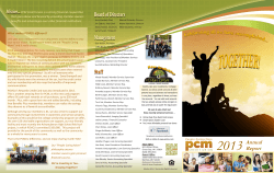Annual Report - PCM Employees Credit Union