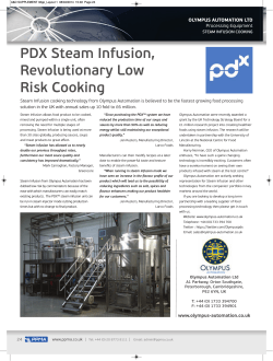 PDX Steam Infusion, Revolutionary Low Risk Cooking