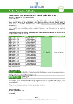 Product Termination Notification