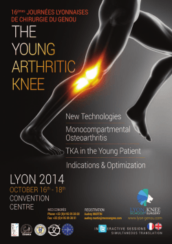 Mise en page 1 - Lyon School of Knee Surgery