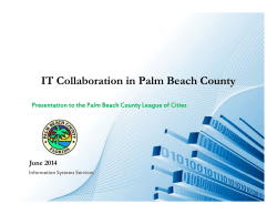 technology update - Palm Beach County League of Cities