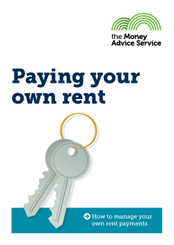 The Money Advice Service: Paying your own rent March 2014