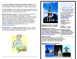 Church Bulletin for the week of December 14