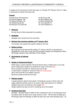 Minutes February 2014 - Llanfrynach Community Council