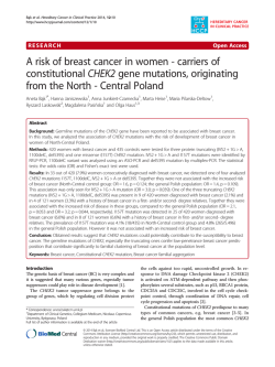 A risk of breast cancer in women