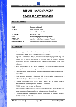 resume - Sigma Engineering Pty Ltd