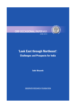 Look East through Northeast - Observer Research Foundation