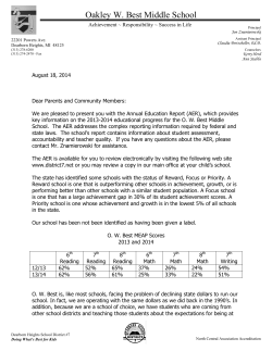 OWB Cover Letter - Dearborn Heights Schools District No.7