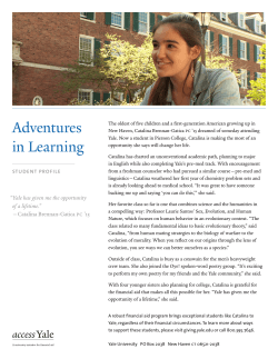 Adventures in Learning - Giving to Yale