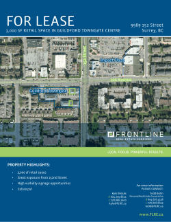 Download Brochure - Frontline Real Estate Services