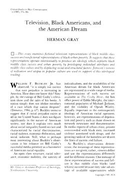 "gray, ""TV, Black Americans, and the American Dream"""