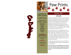 Paw Prints - Grandville Middle School