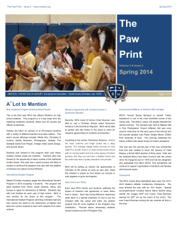 The Paw Print 3.2 - Mekeel Christian Academy