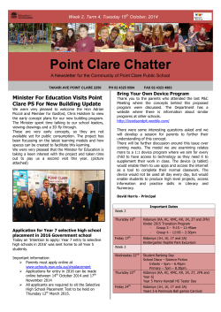 Week 2, Term 4 - Point Clare Public School