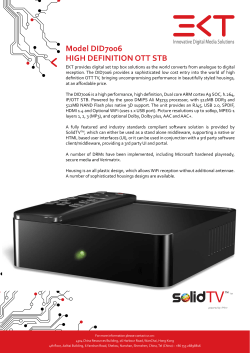 Model DID7006 HIGH DEFINITION OTT STB