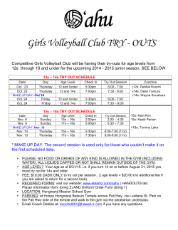 2015 OVC Try Out Flyer